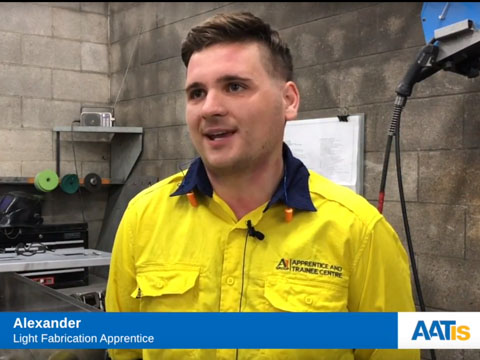 Alex is loving life as a light fabricator!