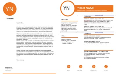 Cover Letter & Resume Template 1