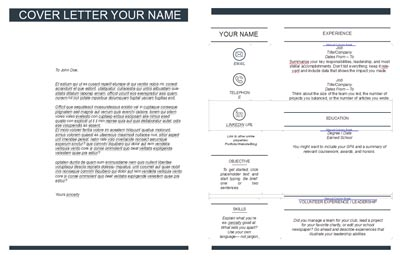 Cover Letter & Resume Template 2