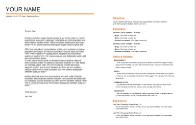 Cover Letter & Resume Template 4