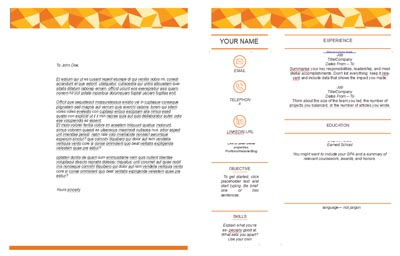 Cover Letter & Resume Template 3