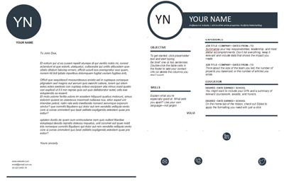 Cover Letter & Resume Template 6