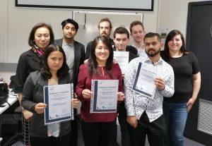 ICT Trainees receiving certificates