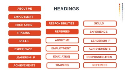 Infographic - Headings