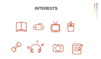 Infographic Icons - Interests